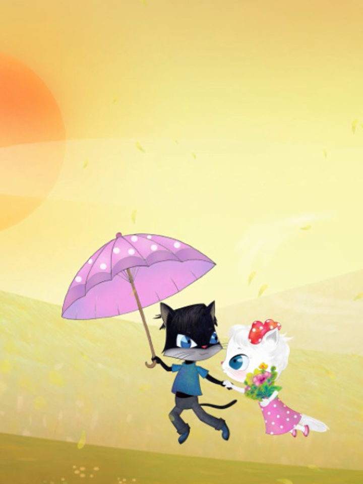 Mèo Trắng Mèo Mun